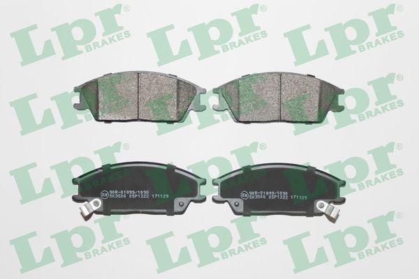 LPR  05P1222 Bremsbelagsatz, Scheibenbremse Breite: 127,5mm, Höhe: 49,1mm, Dicke/Stärke: 15,6mm