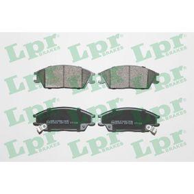 Bremsbelagsatz, Scheibenbremse Breite: 127,5mm, Höhe: 49,1mm, Dicke/Stärke: 15,6mm mit OEM-Nummer 58101-1CA10