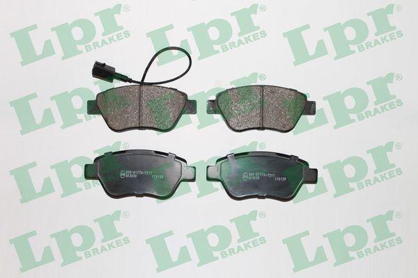 LPR  05P1225 Bremsbelagsatz, Scheibenbremse Breite: 123mm, Höhe: 53,7mm, Dicke/Stärke: 17,8mm