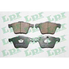 LPR  05P1237 Bremsbelagsatz, Scheibenbremse Breite 1: 156,4mm, Breite 2: 155,3mm, Höhe 1: 74mm, Höhe 2: 75,1mm, Dicke/Stärke 1: 20,6mm, Dicke/Stärke 2: 19,1mm