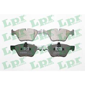 LPR  05P1271 Bremsbelagsatz, Scheibenbremse Breite 1: 154,6mm, Breite 2: 155,1mm, Höhe: 63,5mm, Dicke/Stärke: 20,3mm