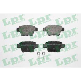 Pedales y Cubre Pedales PEUGEOT 307 SW (3H) 1.6 BioFlex de Año 09.2007 109 CV: Juego de pastillas de freno (05P1278) para de LPR