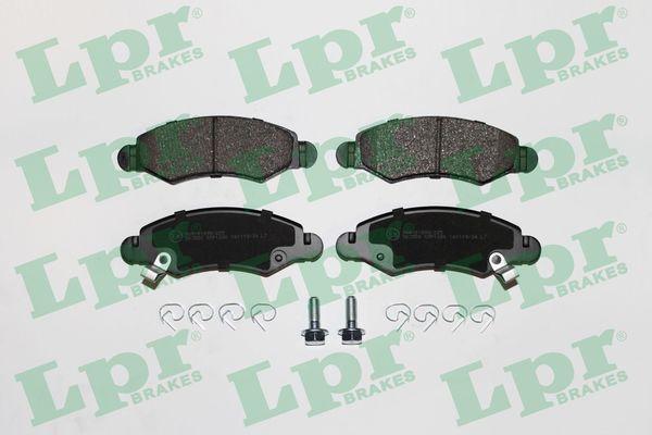 LPR  05P1280 Bremsbelagsatz, Scheibenbremse Breite: 130,7mm, Höhe: 43,9mm, Dicke/Stärke: 15,7mm