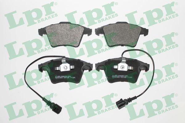 LPR  05P1285 Brake Pad Set, disc brake Width 1: 155,2mm, Width 2 [mm]: 156,4mm, Height 1: 73,3mm, Height 2: 74,8mm, Thickness 1: 20mm, Thickness 2: 18,5mm