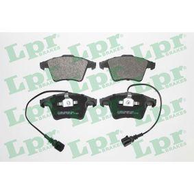 Brake Pad Set, disc brake Width 1: 155,2mm, Width 2 [mm]: 156,4mm, Height 1: 73,3mm, Height 2: 74,8mm, Thickness 1: 20mm, Thickness 2: 18,5mm with OEM Number 7L6698151F