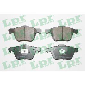 LPR  05P1286 Bremsbelagsatz, Scheibenbremse Breite 1: 156,3mm, Breite 2: 155,1mm, Höhe 1: 71mm, Höhe 2: 72mm, Dicke/Stärke: 19,5mm