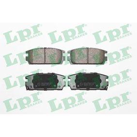 LPR  05P1290 Bremsbelagsatz, Scheibenbremse Breite: 110,6mm, Höhe: 45,5mm, Dicke/Stärke: 16,2mm