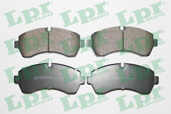 LPR  05P1295 Bremsbelagsatz, Scheibenbremse Breite: 169,1mm, Höhe: 73,5mm, Dicke/Stärke: 20,8mm