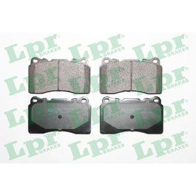 LPR  05P1394 Bremsbelagsatz, Scheibenbremse Breite: 131,8mm, Höhe: 77,2mm, Dicke/Stärke: 15,6mm