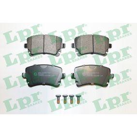 LPR Bremsbelagsatz, Scheibenbremse 05P1398 für AUDI A4 Cabriolet (8H7, B6, 8HE, B7) 3.2 FSI ab Baujahr 01.2006, 255 PS
