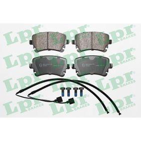 LPR  05P1398A Bremsbelagsatz, Scheibenbremse Breite: 116,2mm, Höhe: 59mm, Dicke/Stärke: 17,5mm