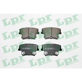 LPR  05P1400 Bremsbelagsatz, Scheibenbremse Breite: 101,3mm, Höhe: 57,4mm, Dicke/Stärke: 18mm
