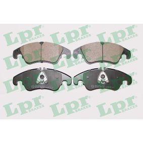 LPR  05P1420 Bremsbelagsatz, Scheibenbremse Breite: 188mm, Höhe: 74mm, Dicke/Stärke: 19mm