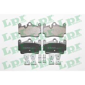 LPR Bremsbelagsatz, Scheibenbremse 05P1482 für AUDI Q7 (4L) 3.0 TDI ab Baujahr 11.2007, 240 PS