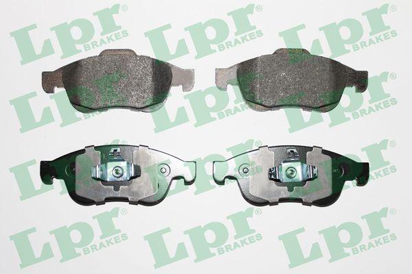 LPR  05P1493 Bremsbelagsatz, Scheibenbremse Breite 1: 155,1mm, Breite 2: 155,2mm, Höhe 1: 59,4mm, Höhe 2: 64,7mm, Dicke/Stärke: 18mm