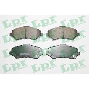 LPR  05P1548 Bremsbelagsatz, Scheibenbremse Breite: 146,6mm, Höhe: 63,5mm, Dicke/Stärke: 17,5mm