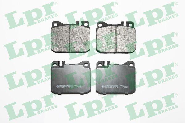 LPR  05P211 Bremsbelagsatz, Scheibenbremse Breite: 89,6mm, Höhe: 74mm, Dicke/Stärke: 17,5mm