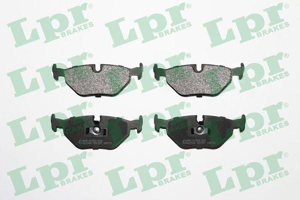 LPR  05P297 Bremsbelagsatz, Scheibenbremse Breite: 123,1mm, Höhe: 44,9mm, Dicke/Stärke: 17mm