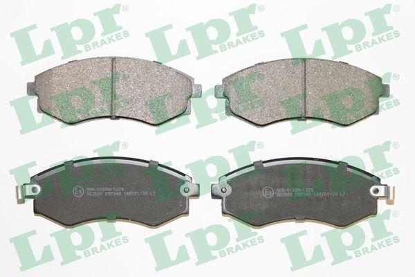 LPR  05P348 Bremsbelagsatz, Scheibenbremse Breite: 137mm, Höhe: 54,2mm, Dicke/Stärke: 17mm