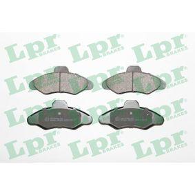 LPR Bremsbelagsatz, Scheibenbremse 05P383 für FORD ESCORT VI Stufenheck (GAL) 1.4 ab Baujahr 08.1993, 75 PS