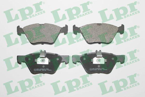 LPR  05P406 Bremsbelagsatz, Scheibenbremse Breite 1: 155,1mm, Breite 2: 156,4mm, Höhe 1: 69,4mm, Höhe 2: 63,5mm, Dicke/Stärke: 20mm