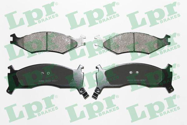 LPR  05P426 Bremsbelagsatz, Scheibenbremse Breite 1: 165mm, Breite 2: 172,5mm, Höhe 1: 49,1mm, Höhe 2: 65,8mm, Dicke/Stärke 1: 16,5mm, Dicke/Stärke 2: 18,5mm