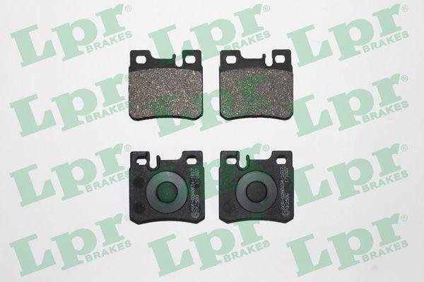 LPR  05P428 Bremsbelagsatz, Scheibenbremse Breite: 61,7mm, Höhe: 58,5mm, Dicke/Stärke: 15,2mm