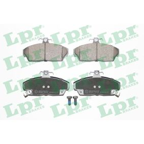 Brake Pad Set, disc brake 05P430 CIVIC 7 Hatchback (EU, EP, EV) 1.7 CTDi MY 2003