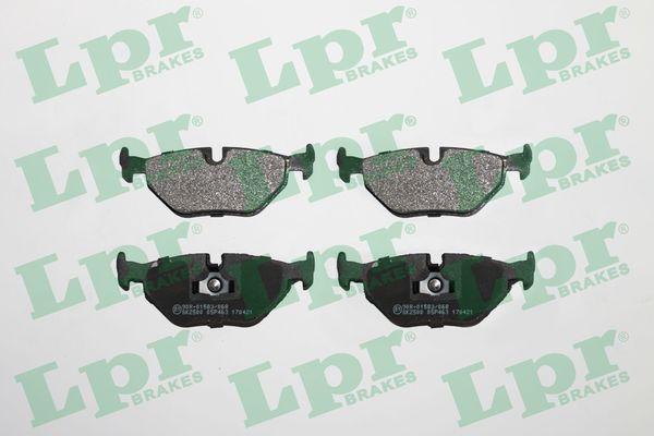 LPR  05P463 Bremsbelagsatz, Scheibenbremse Breite: 123,1mm, Höhe: 44,9mm, Dicke/Stärke: 17mm