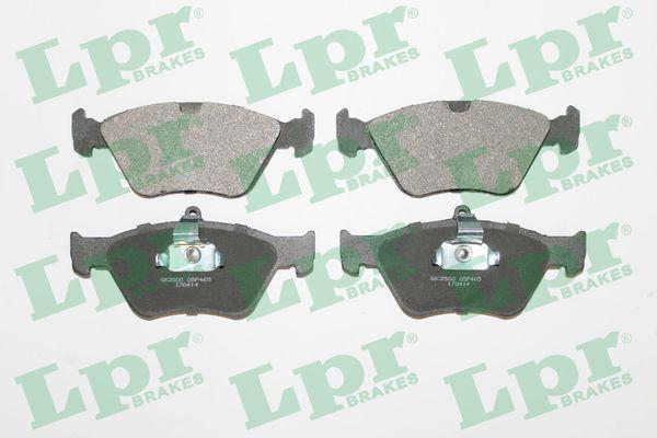 LPR  05P465 Bremsbelagsatz, Scheibenbremse Breite 1: 156,4mm, Breite 2: 155,1mm, Höhe 1: 60,8mm, Höhe 2: 70,6mm, Dicke/Stärke: 18mm