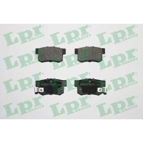 Brake Pad Set, disc brake 05P508 CIVIC 7 Hatchback (EU, EP, EV) 2.0 Type-R MY 2004