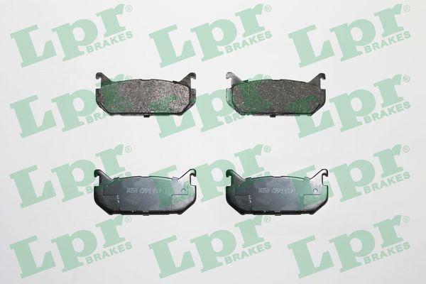 LPR  05P512 Bremsbelagsatz, Scheibenbremse Breite: 100mm, Höhe: 43,6mm, Dicke/Stärke: 14mm