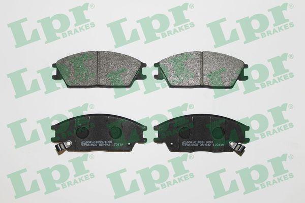LPR  05P542 Bremsbelagsatz, Scheibenbremse Breite: 127,5mm, Höhe: 49mm, Dicke/Stärke: 14,8mm