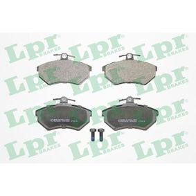 LPR Bremsbelagsatz, Scheibenbremse 05P600 für AUDI 80 Avant (8C, B4) 2.0 E 16V ab Baujahr 02.1993, 140 PS