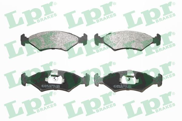 LPR  05P628 Bremsbelagsatz, Scheibenbremse Breite: 151,4mm, Höhe: 46,4mm, Dicke/Stärke: 18mm