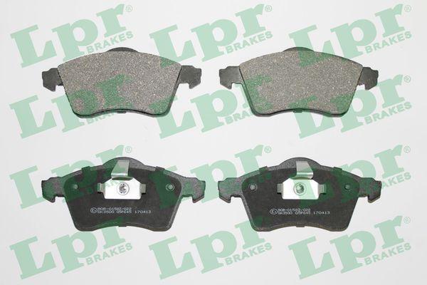 LPR  05P645 Bremsbelagsatz, Scheibenbremse Breite: 156,4mm, Höhe: 68,7mm, Dicke/Stärke: 19,5mm