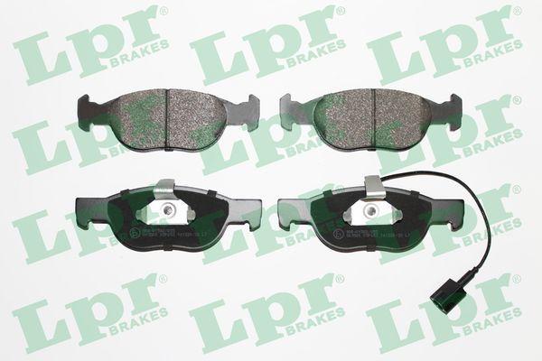 LPR  05P652 Bremsbelagsatz, Scheibenbremse Breite: 151,3mm, Höhe: 52mm, Dicke/Stärke: 17,6mm