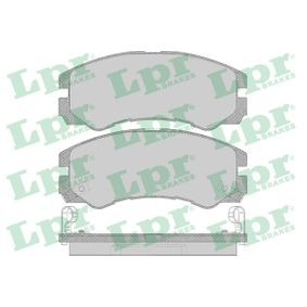LPR  05P658 Bremsbelagsatz, Scheibenbremse Breite: 137,9mm, Höhe: 58,5mm, Dicke/Stärke: 15,5mm