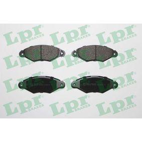 LPR  05P662 Bremsbelagsatz, Scheibenbremse Breite: 130,8mm, Höhe: 48mm, Dicke/Stärke: 18mm
