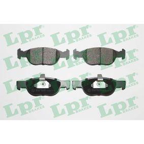 Brake Pad Set, disc brake 05P688 PUNTO (188) 1.2 16V 80 MY 2006
