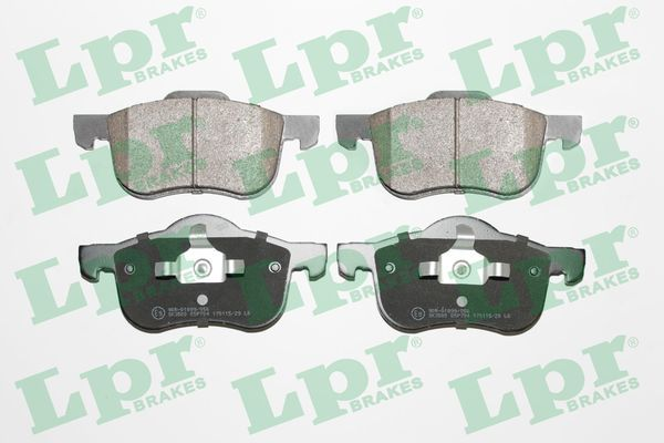 LPR  05P704 Brake Pad Set, disc brake Width 1: 155mm, Width 2 [mm]: 156,7mm, Height 1: 73mm, Height 2: 69mm, Thickness: 18,6mm