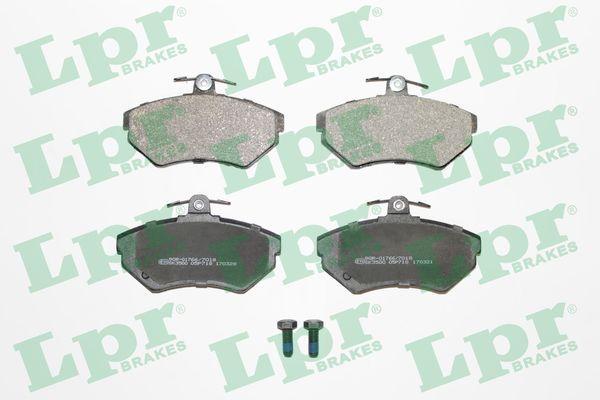 LPR  05P718 Bremsbelagsatz, Scheibenbremse Breite: 118,9mm, Höhe: 69,5mm, Dicke/Stärke: 16mm