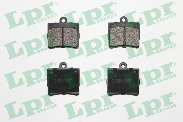 LPR  05P725 Bremsbelagsatz, Scheibenbremse Breite: 63,3mm, Höhe: 63,2mm, Dicke/Stärke: 15,5mm
