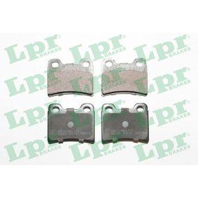 LPR Bremsbelagsatz, Scheibenbremse 05P747 für FORD ESCORT VI Stufenheck (GAL) 1.4 ab Baujahr 08.1993, 75 PS