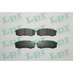 LPR  05P749 Bremsbelagsatz, Scheibenbremse Breite: 116mm, Höhe: 44mm, Dicke/Stärke: 15mm