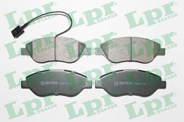 LPR  05P765 Bremsbelagsatz, Scheibenbremse Breite: 150,8mm, Höhe: 57,4mm, Dicke/Stärke: 18,4mm