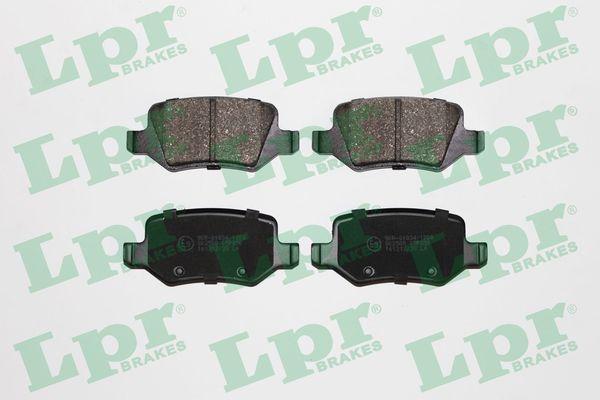 LPR  05P850 Brake Pad Set, disc brake Width: 95,6mm, Height: 41,5mm, Thickness: 14,5mm