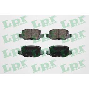 Brake Pad Set, disc brake 05P850 A-Class (W169) A 170 1.7 (169.032, 169.332) MY 2012