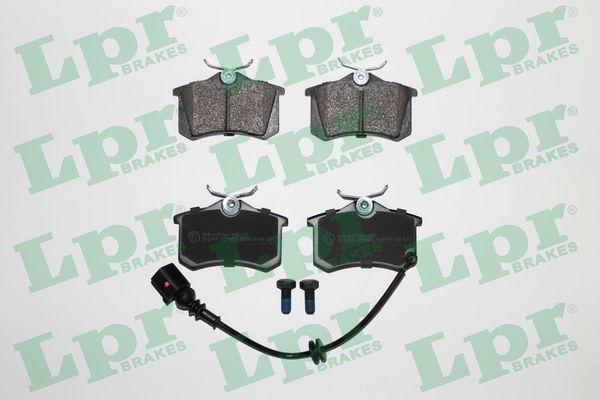 LPR  05P853 Bremsbelagsatz, Scheibenbremse Breite: 87,6mm, Höhe: 52,4mm, Dicke/Stärke: 16,5mm