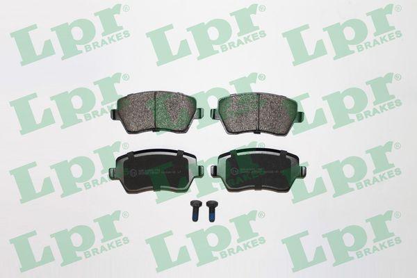 LPR  05P867 Bremsbelagsatz, Scheibenbremse Breite: 116,4mm, Höhe: 52,5mm, Dicke/Stärke: 17,3mm